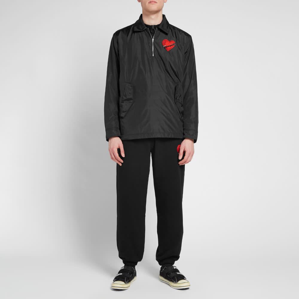 Palm Angels Pin My Heart Coach Jacket - Black