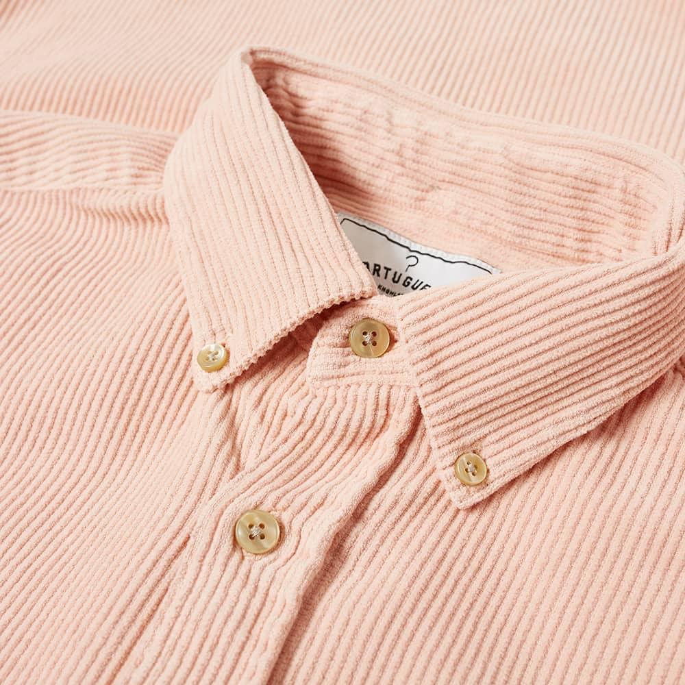 Portuguese Flannel Lobo Button Down Corduroy Shirt - Old Rose