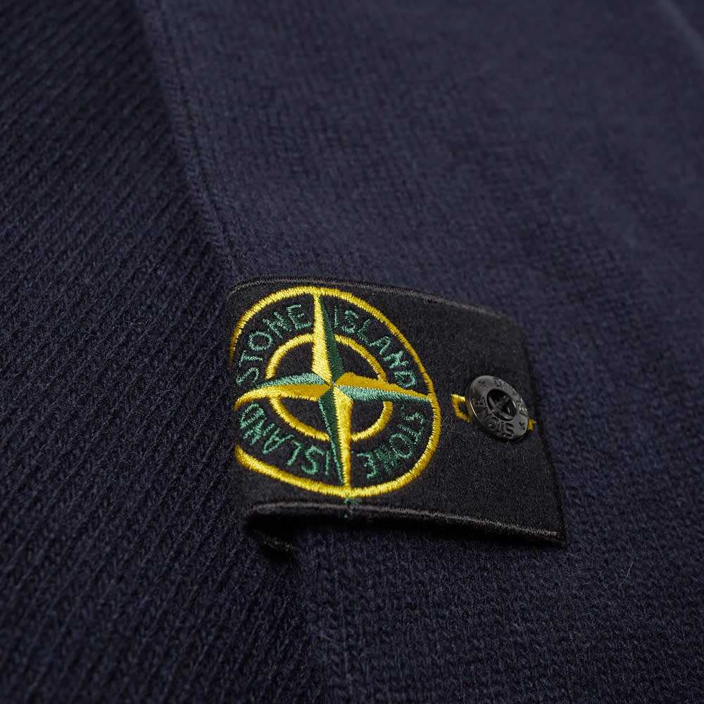 Stone Island Lambswool Half Button Knit - Navy
