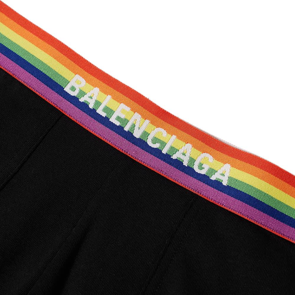 Balenciaga Rainbow Logo Boxer Briefs - Black
