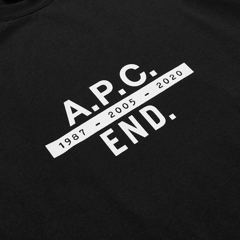 END. x A.P.C. Carlos Tee - Black