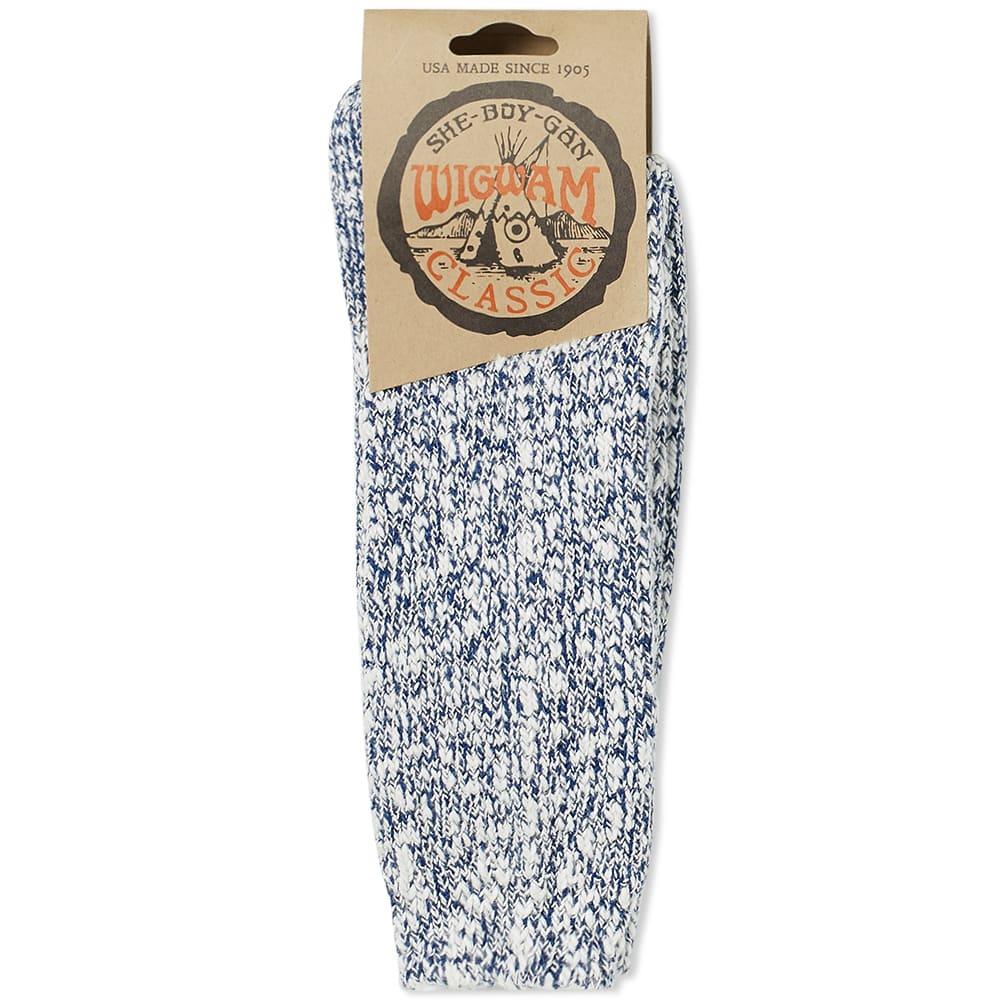 Wigwam Cypress Sock - White & Navy
