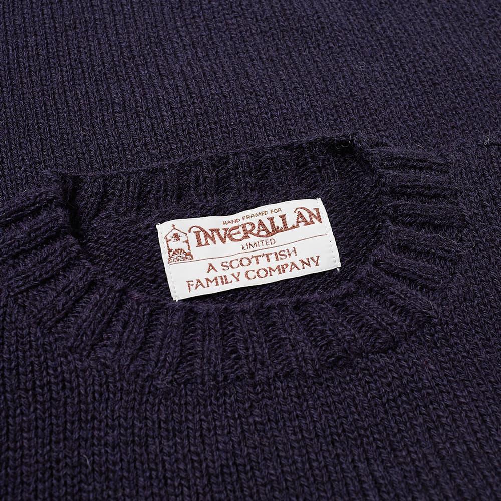 Inverallan 15A Hand Framed Shetland Crew Knit - Midnight
