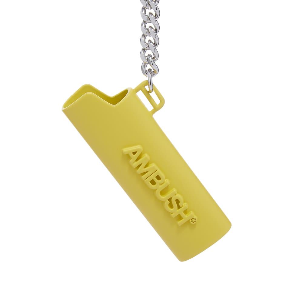 Ambush Logo Lighter Keychain - Yellow