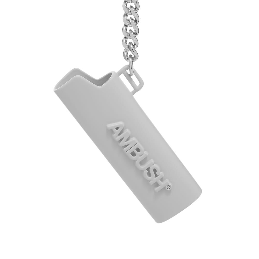 Ambush Logo Lighter Keychain - Silver
