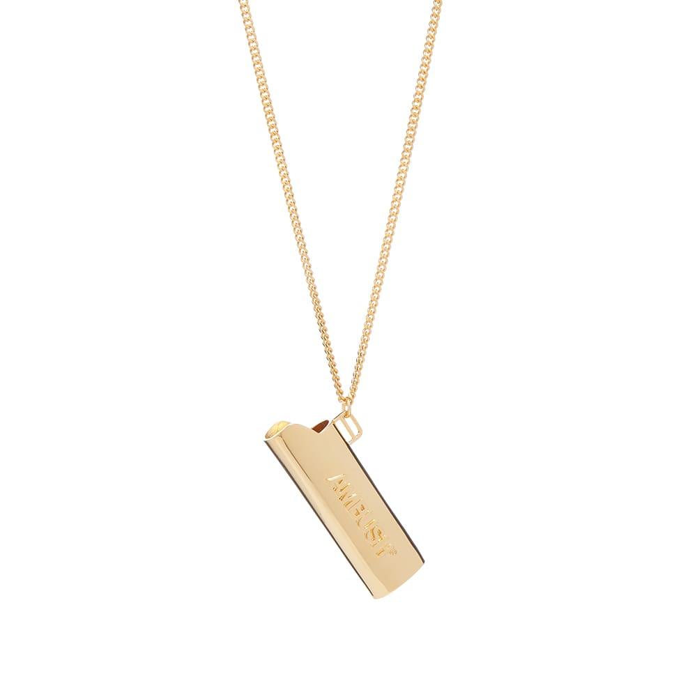 Ambush Logo Lighter Case Necklace - Gold & Gold