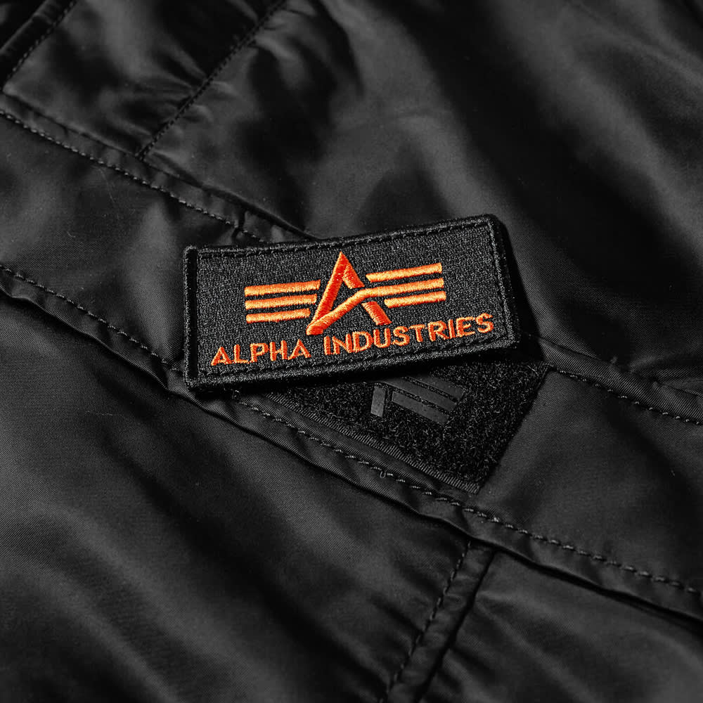 Alpha Industries Hooded Popover Anorak - Black