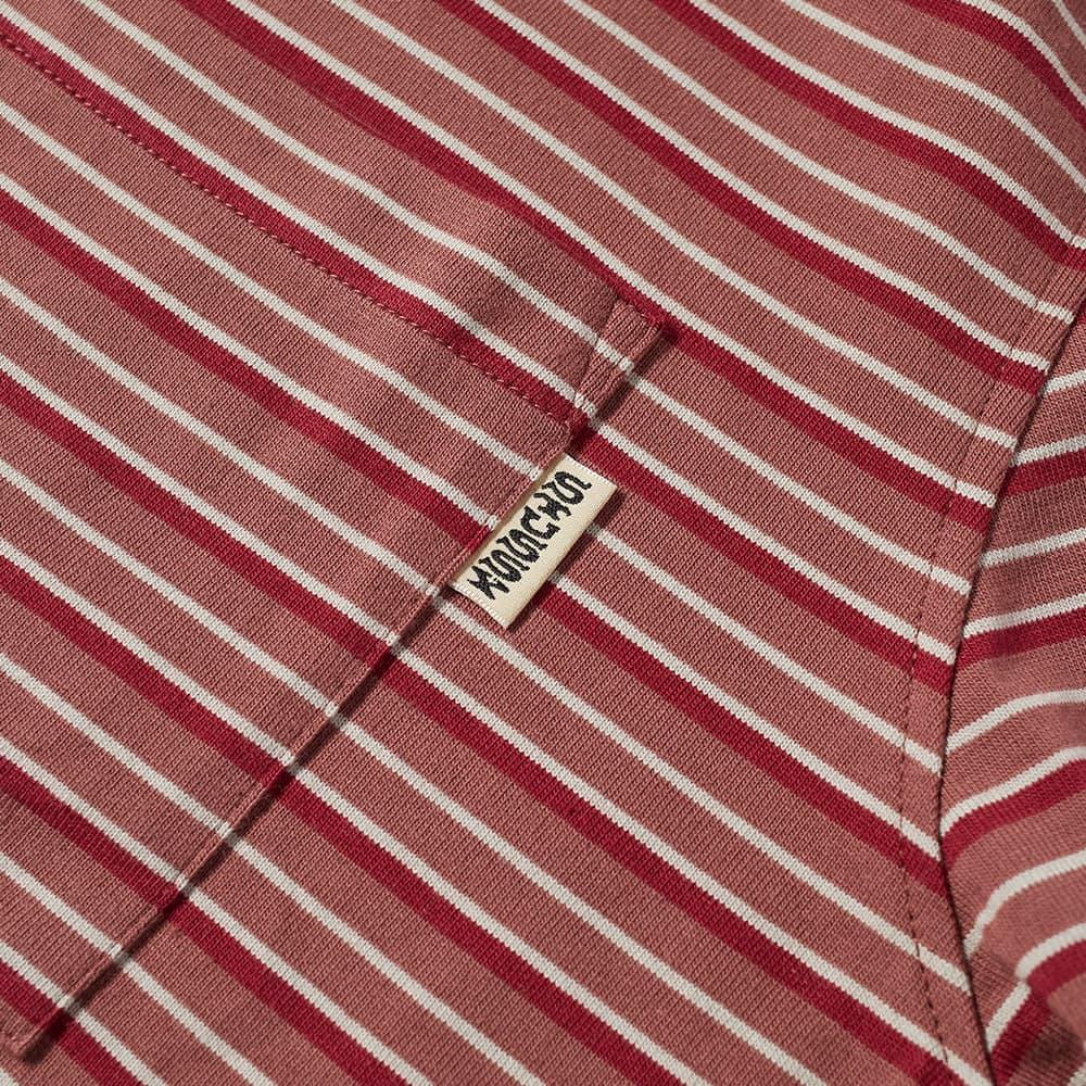 Stussy Classic Striped Tee - Brick
