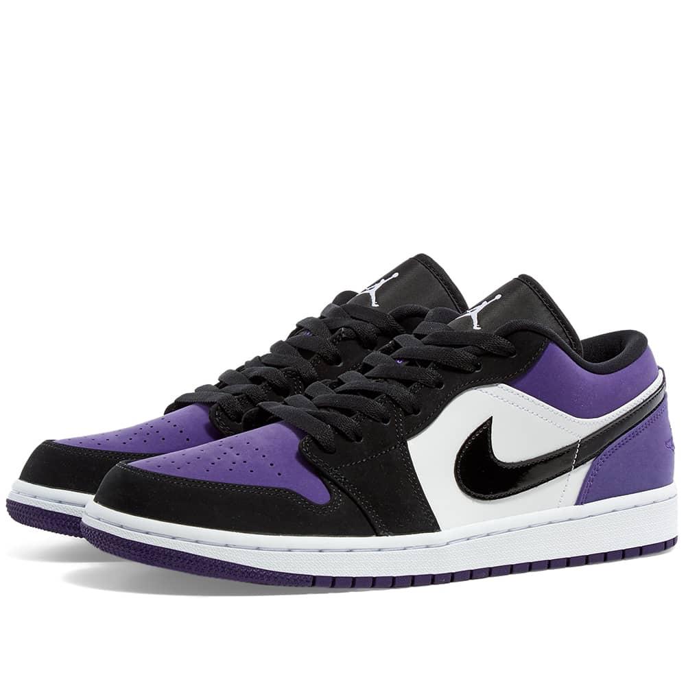 Air Jordan 1 Low White, Black \u0026 Court