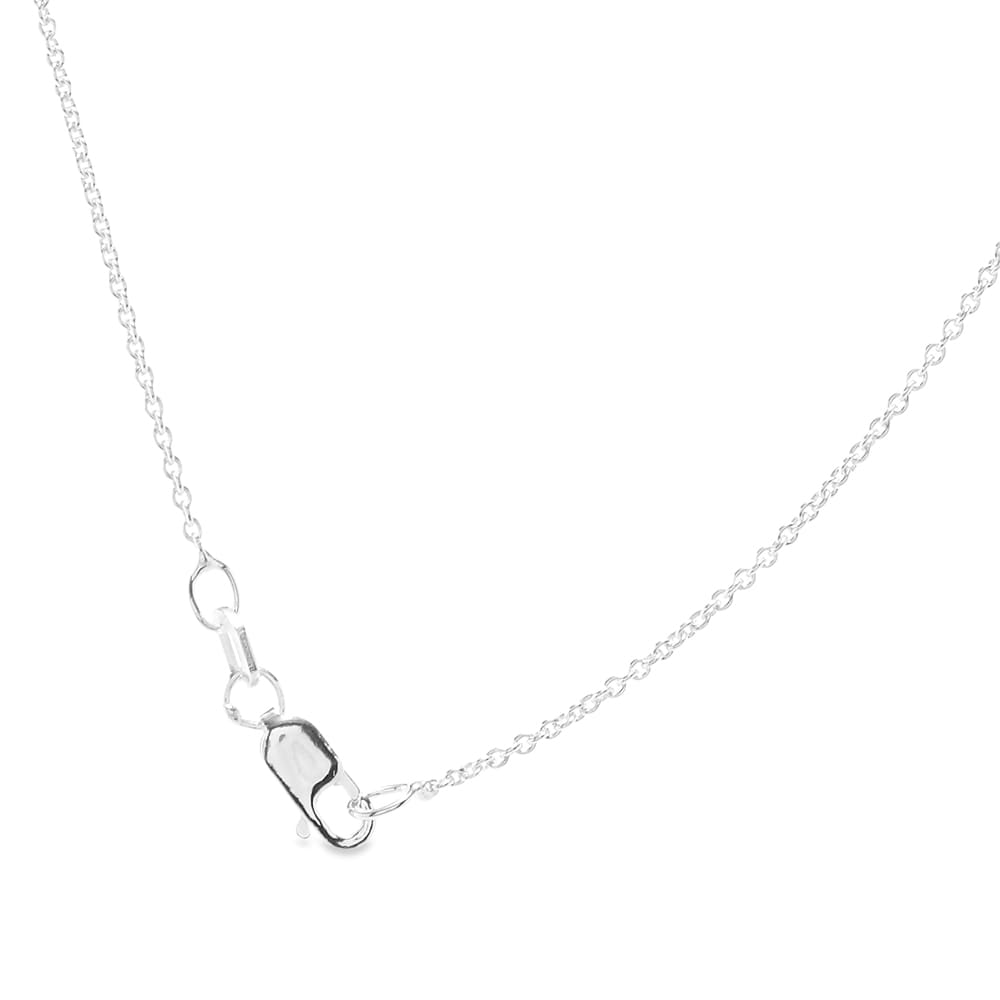Le Gramme Medium Rectangle Pendant Necklace - Sterling Silver 3.4g