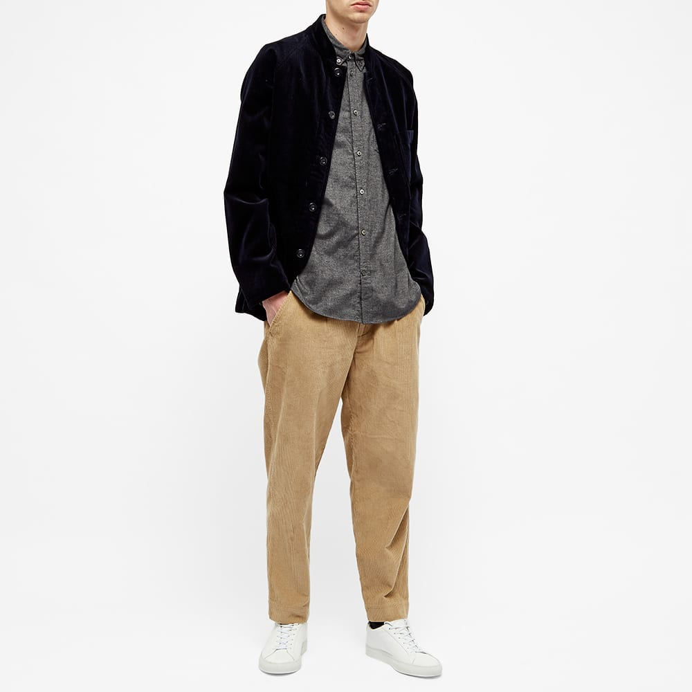 Norse Projects Anton Brushed Flannel Shirt - Magnet Grey