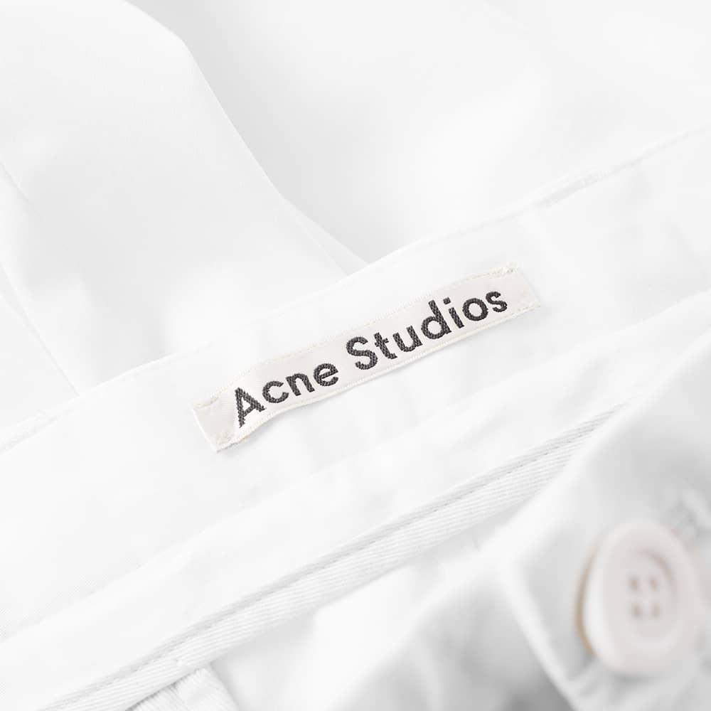 Acne Studios Alfred Satin Chino - Optic White