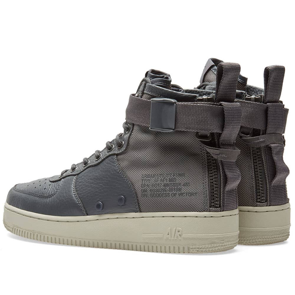 Nike SF Air Force 1 Mid - Dark Grey & Light Bone