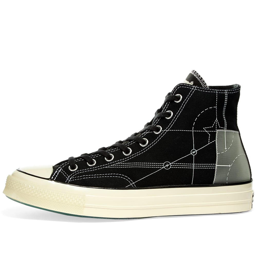 END. x Converse Chuck 70 Hi 'Blueprint' - Black, White & Egret