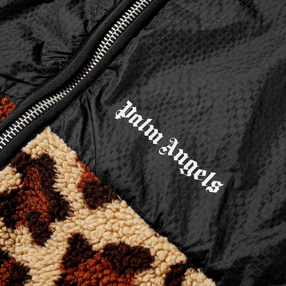Palm Angels Animal Sherpa Fleece Jacket - Beige & Black