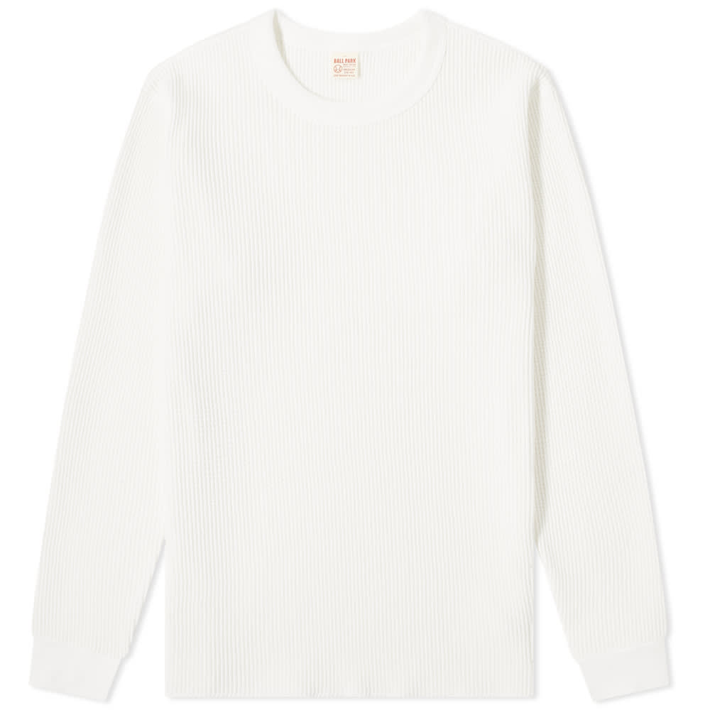 The Real McCoy's Long Sleeve Waffle Thermal Tee - White