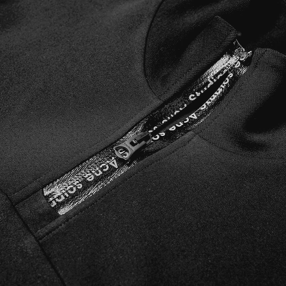 Acne Studios Ellington Tech Logo Quarter Zip - Black