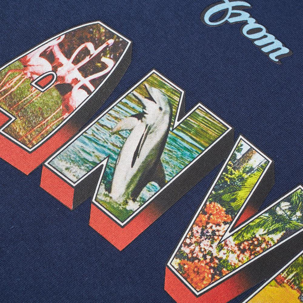 Lanvin Postcard Print Tee - Navy Blue