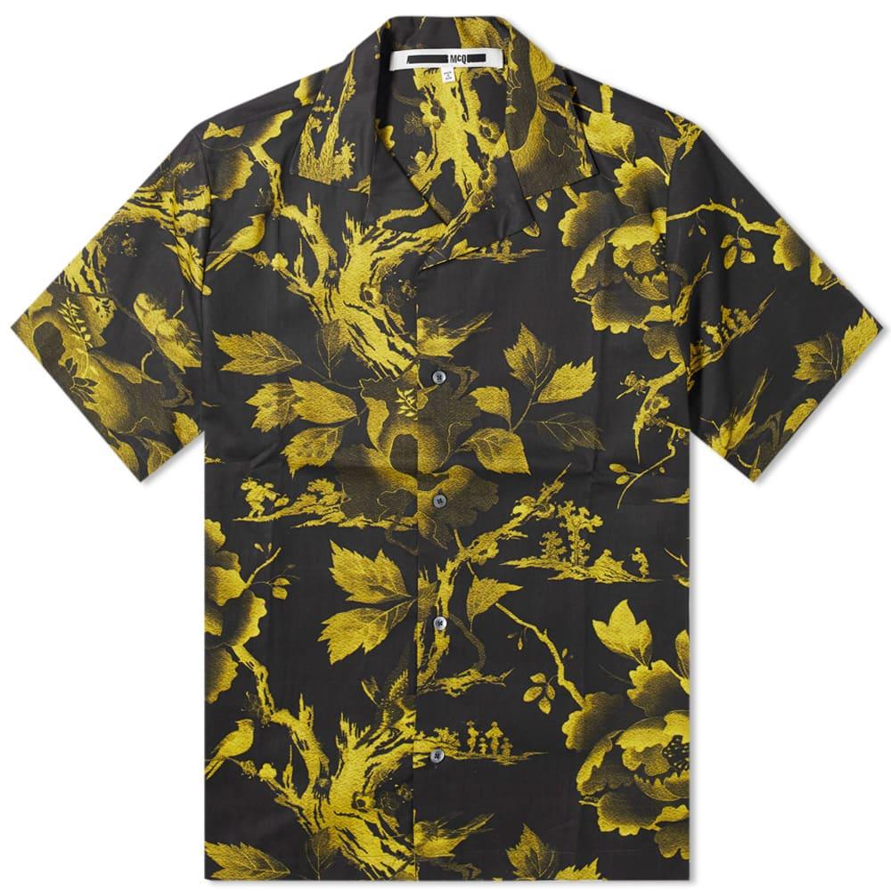 McQ Alexander McQueen Repeat Print Vacation Shirt - Darkest Black