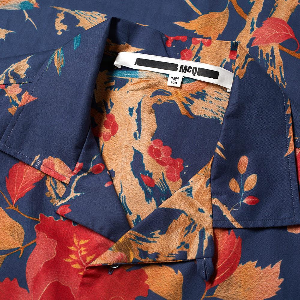McQ Alexander McQueen Repeat Print Vacation Shirt - Blue