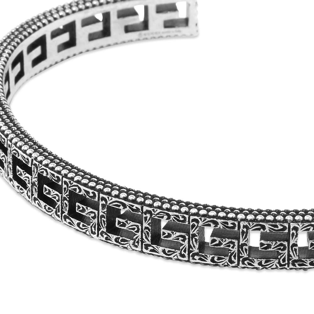 Gucci G Cube Bracelet - Aged Sterling Silver