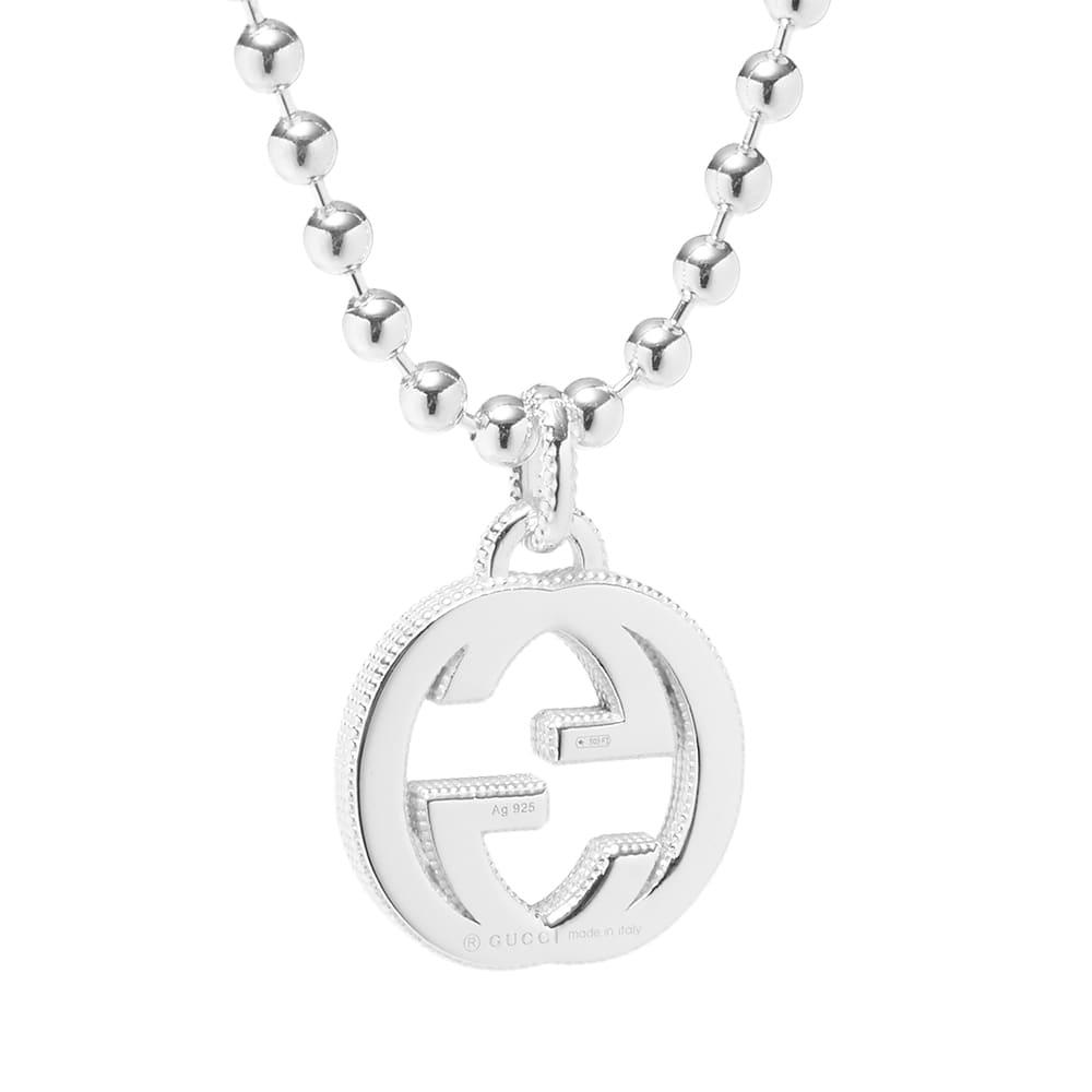 Gucci Interlocking G Pendant - Sterling Silver
