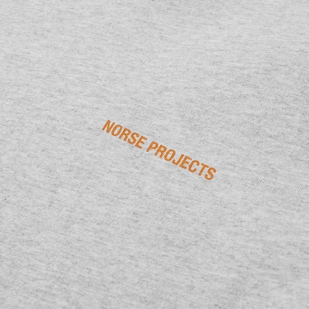 Norse Projects Niels Logo Tee - Light Grey Melange