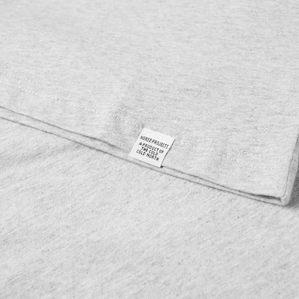Norse Projects Niels Standard Tee - Light Grey Melange