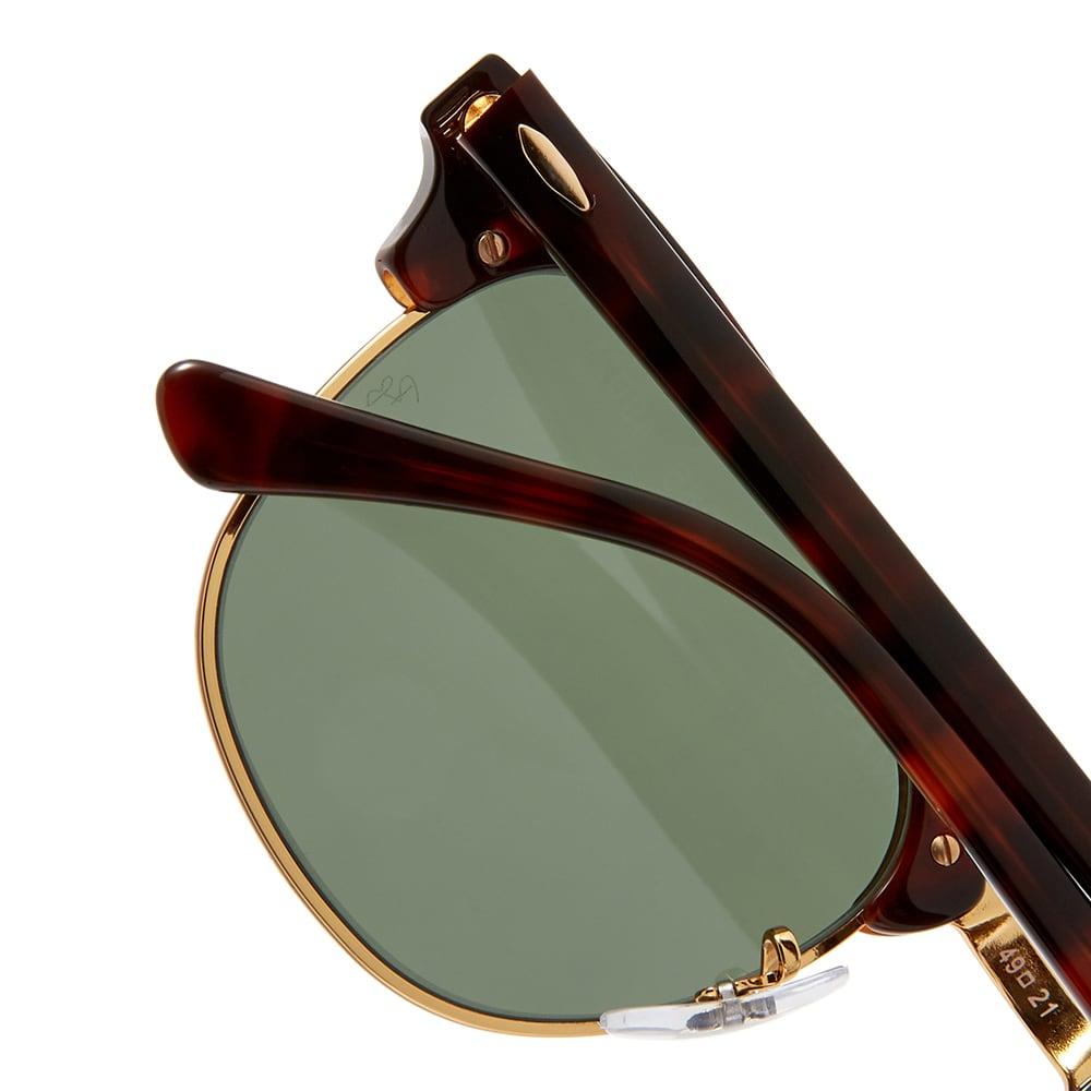 Ray Ban Clubmaster Sunglasses - Mock Tortoise & Green