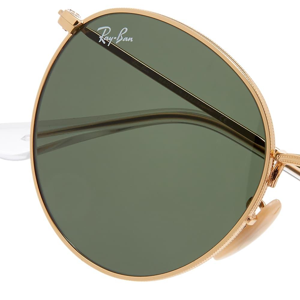Ray Ban Round Sunglasses - Arista & Crystal Green