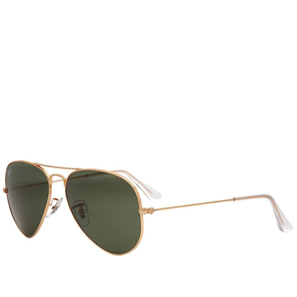 Ray Ban Aviator Sunglasses - Gold & Green