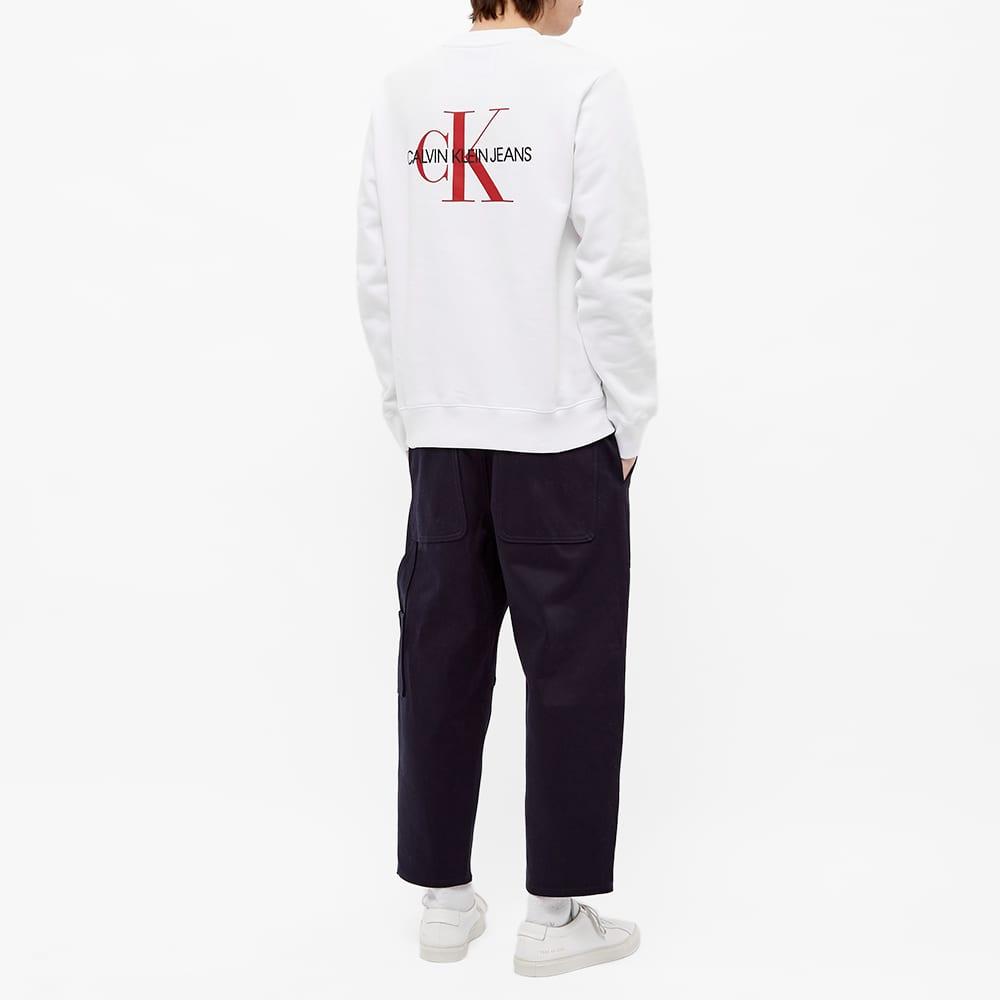 Calvin Klein Monogram Crew Sweat - Bright White
