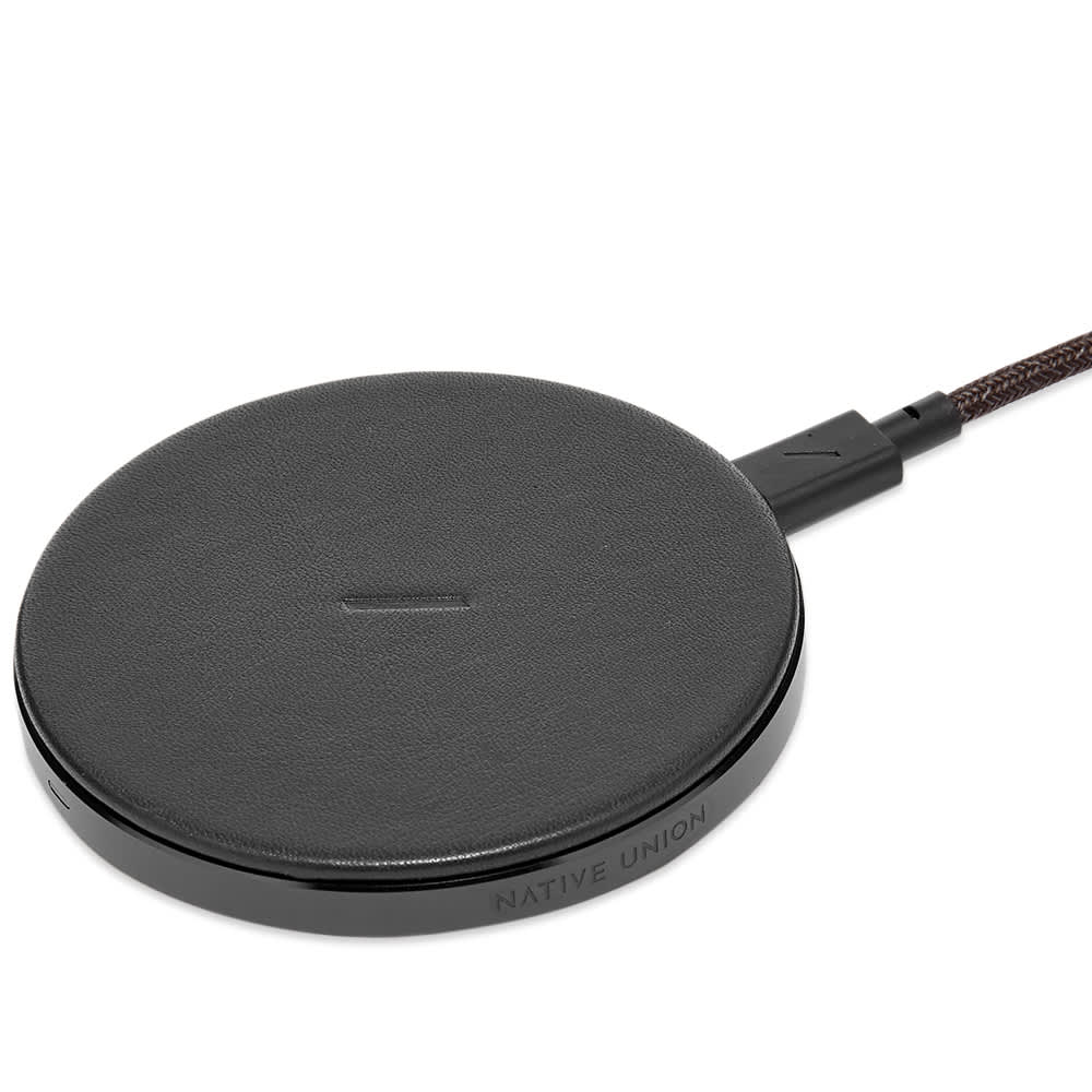 Native Union Drop Leather Wireless Charger - Black
