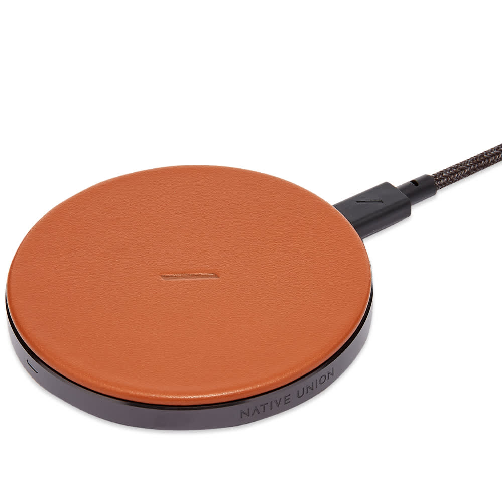 Native Union Drop Leather Wireless Charger - Tan
