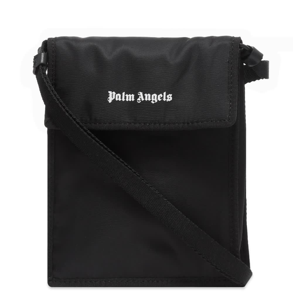 Palm Angels Logo Side Bag - Black & White