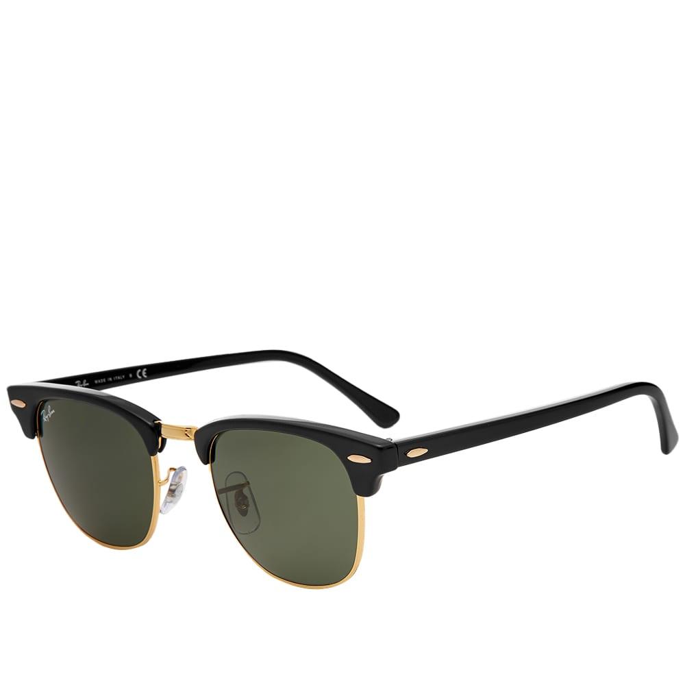 Ray Ban Clubmaster Sunglasses - Black