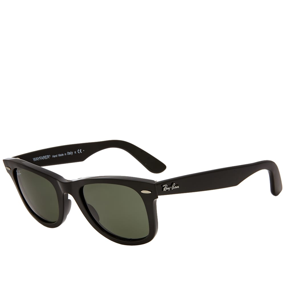 Ray Ban Original Wayfarer Classic Sunglasses - Black & Green