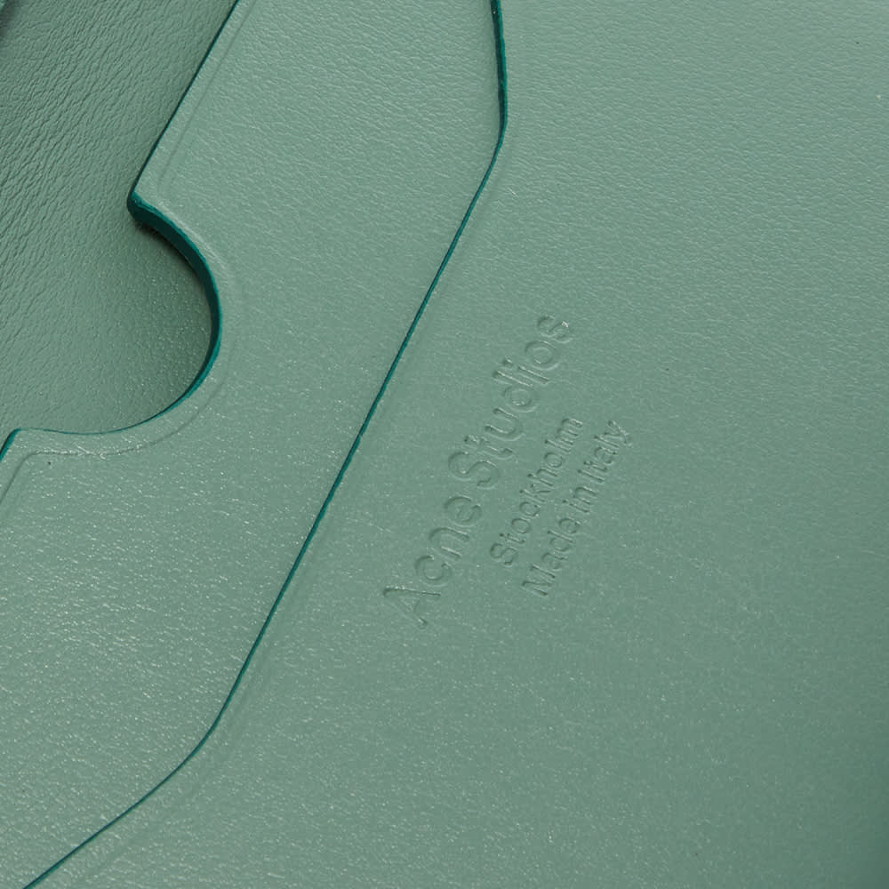 Acne Studios Flap Card Holder - Sage Green