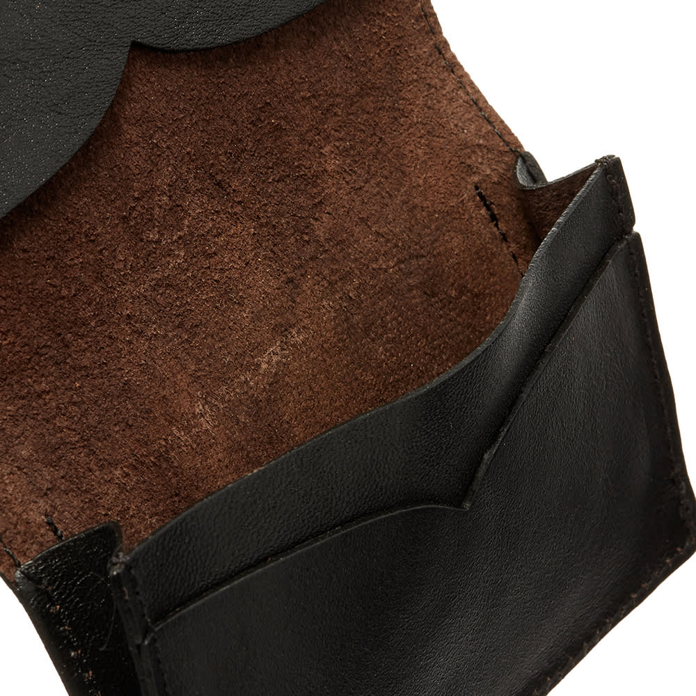 The Real McCoys Usn Horsehide Card Holder - Black