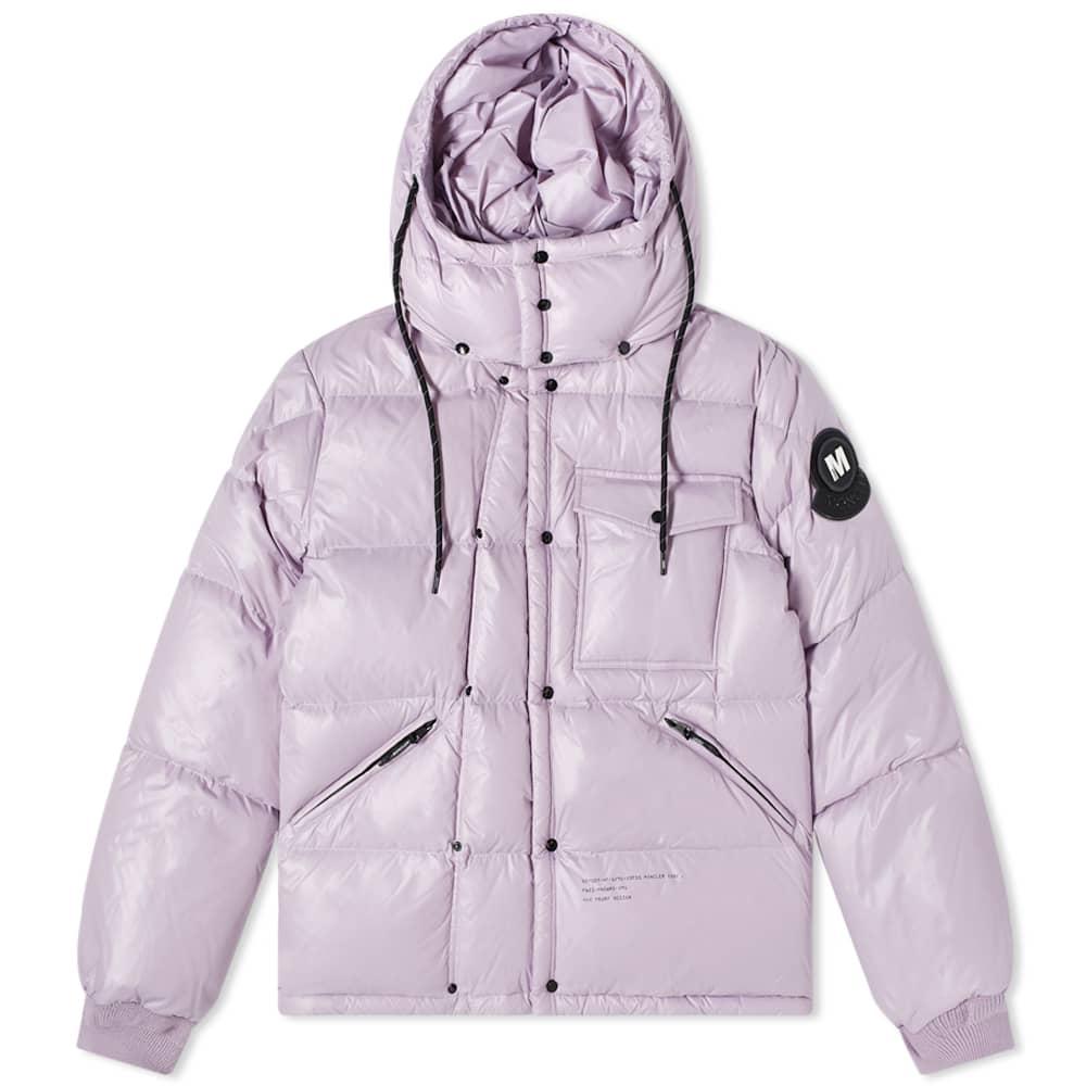 7 Moncler FRGMT Hiroshi Fujiwara Anthemyx Patch Detail Down Jacket - Lilac