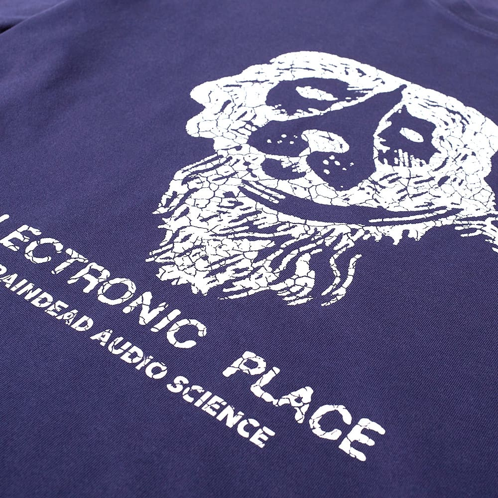 Brain Dead Electronic Place Tee - Navy