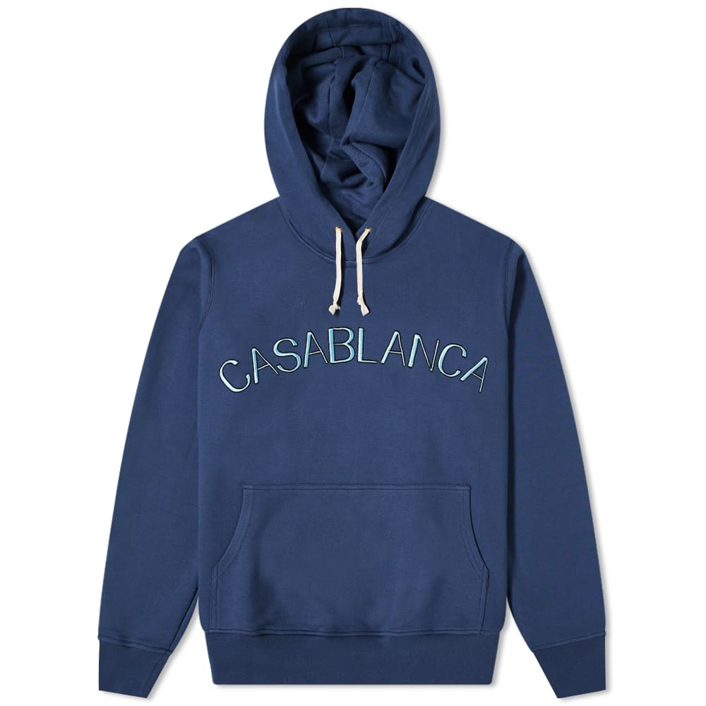 Casablanca Arch Logo Hoody - Blue