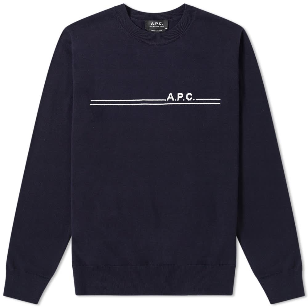 A.P.C. Eponyme Logo Crew Knit by A.P.C.