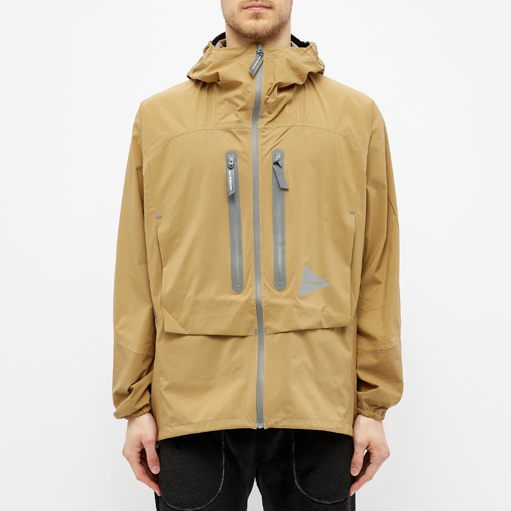 And Wander 2.5 Layer Rain Jacket - Beige