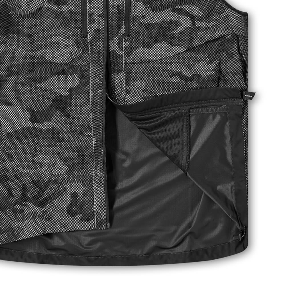 and wander Reflective Raschel Ripstop Vest - Black