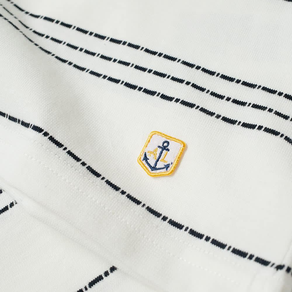 Armor-Lux Barnaby Chain Stripe Tee - Milk & Rich Navy