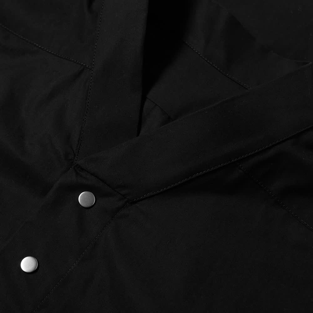 Rick Owens Snap Front Faun Shirt - Black
