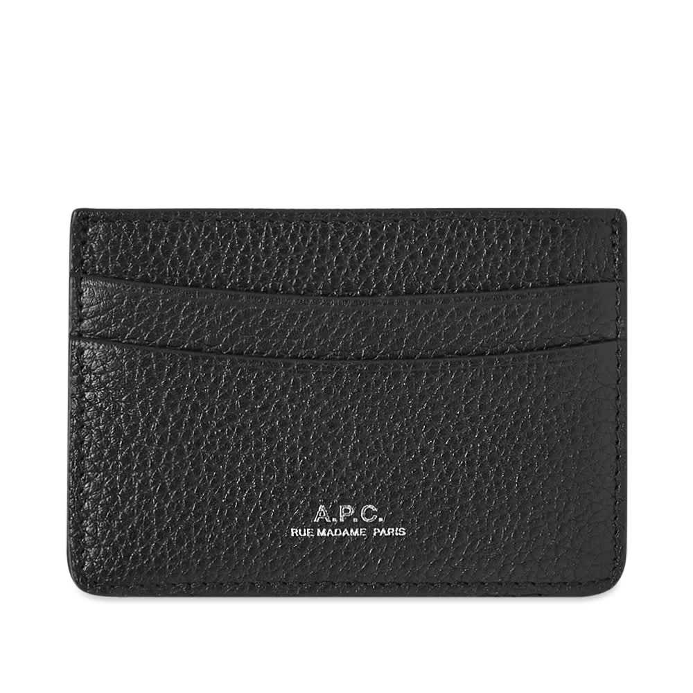 A.P.C. Andre Grain Card Holder - Black