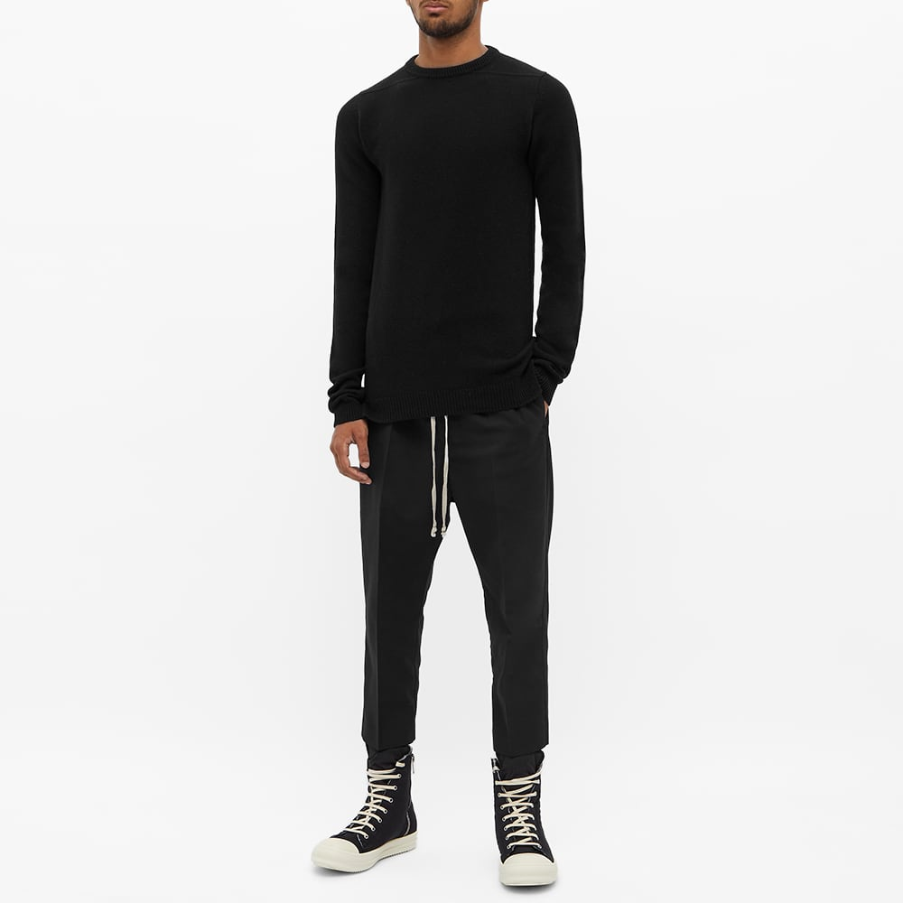 Rick Owens Recycled Cashmere Crew Knit - Black