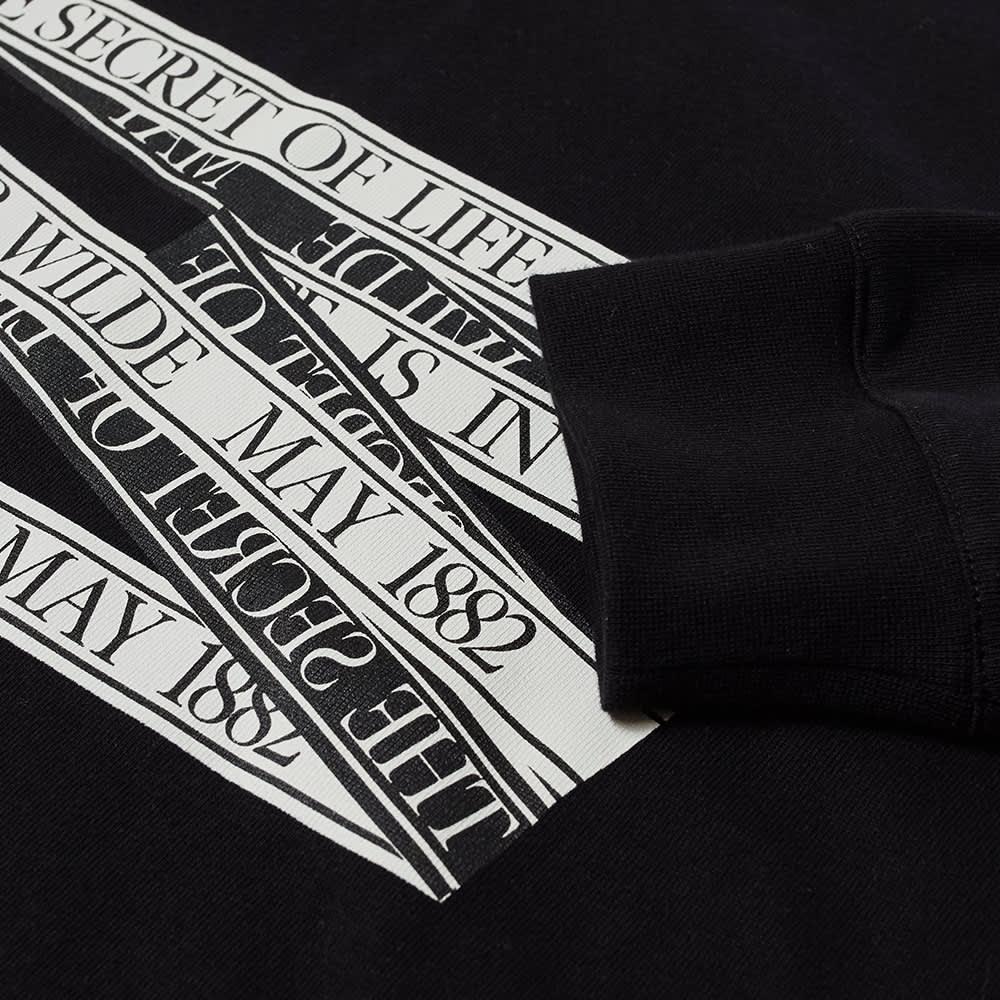J.W. Anderson Oscar Wilde Long Sleeve Quote Tee - Black